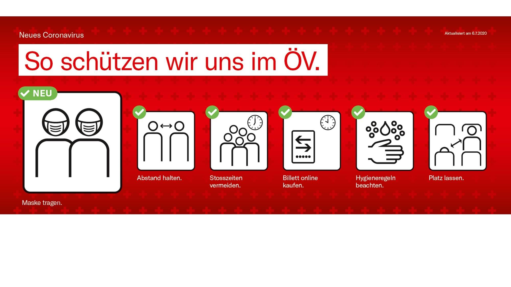 Coronavirus: Masken tragen, sich und Mitreisende schützen - Oensingen-Balsthal-Bahn AG