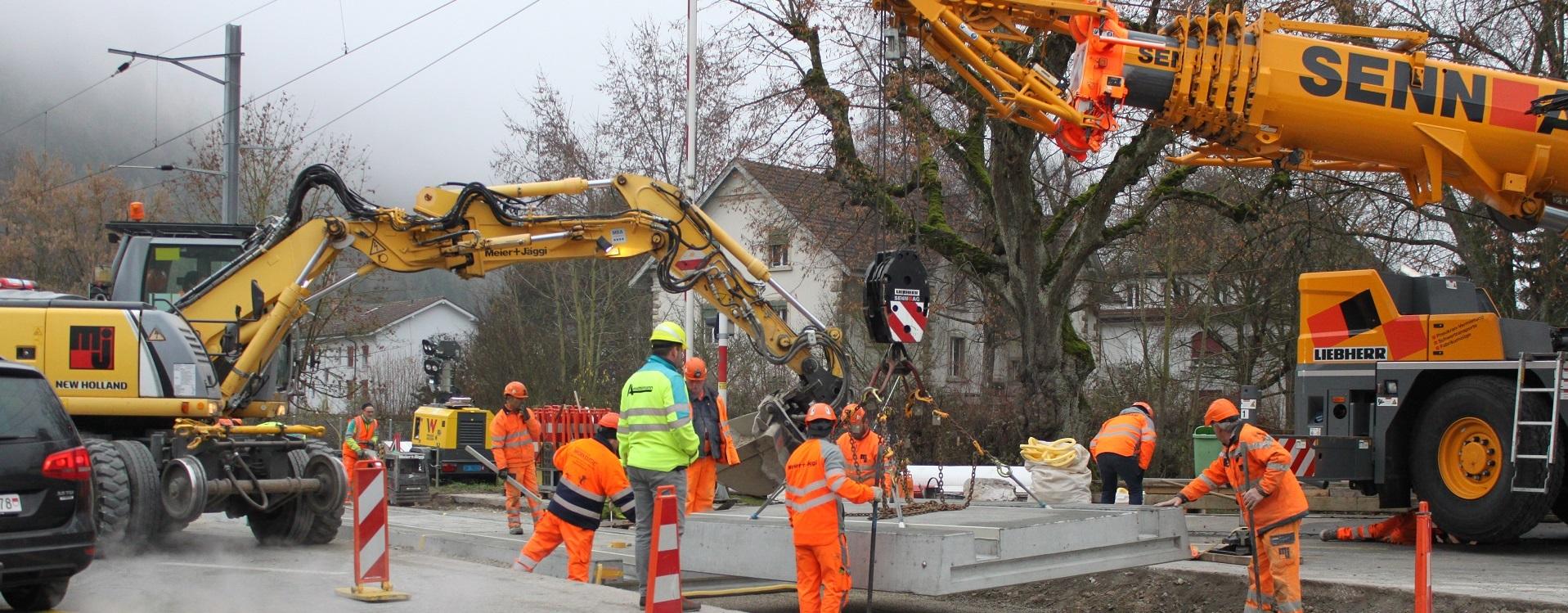 Impressionen Bau-Wochenende vom 21./22. & 28./29. November - Oensingen-Balsthal-Bahn AG