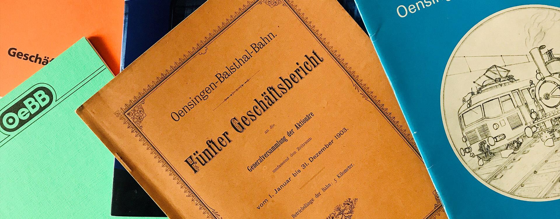 Geschäftsberichte - Oensingen-Balsthal-Bahn AG