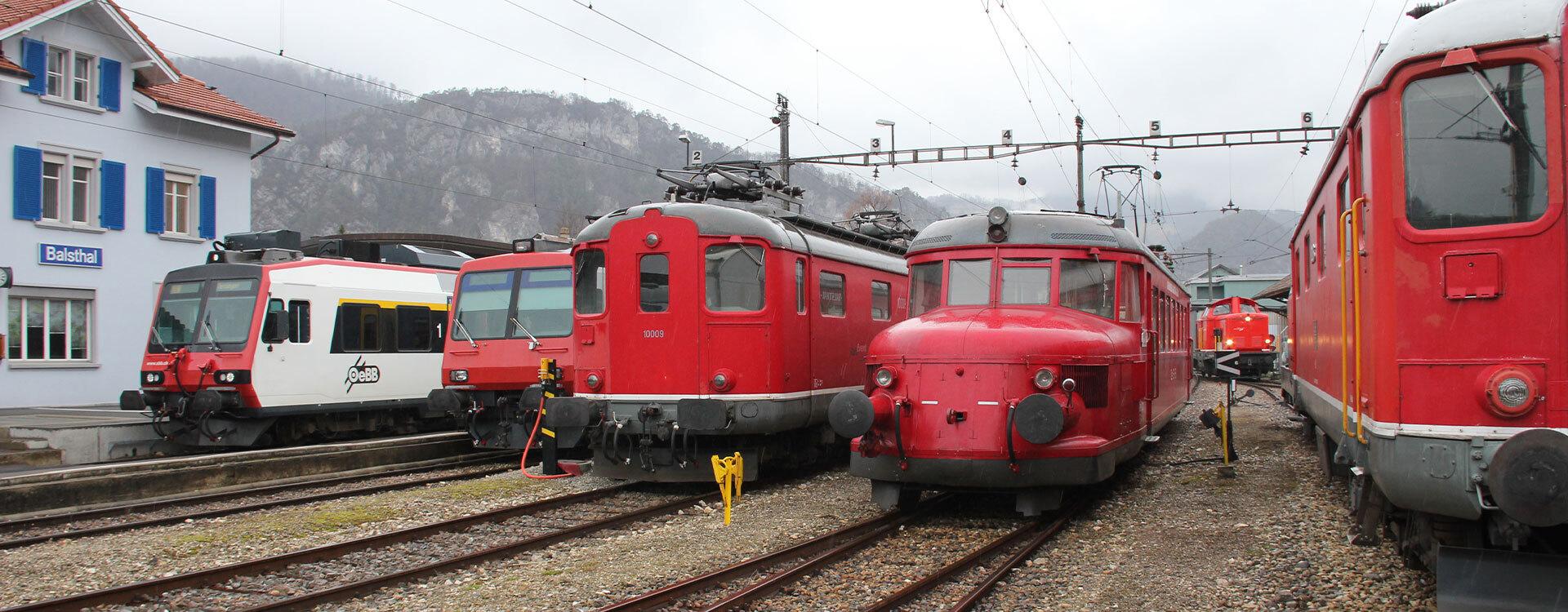 Unsere Charter-Flotte - Oensingen-Balsthal-Bahn AG